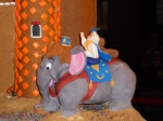 Alladin and Abu as an elephant.